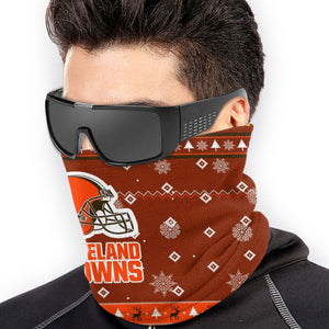 Browns Team Christmas Ugly Seamless Face Mask Bandanas-Heroinhere