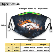 Load image into Gallery viewer, Broncos Illustration Art Anti-infective Polyester Face Mask With Filter-Heroinhere