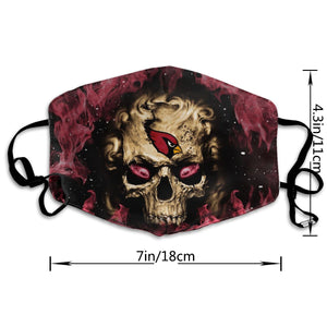 QIANOU66 3D Skull Cardinals Anti-infective Polyester Face Mask-Heroinhere