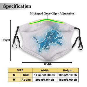 Lions Logo Anti-infective Polyester Face Mask With Filter-Heroinhere