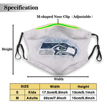 Load image into Gallery viewer, Seahawks Logo Anti-infective Polyester Face Mask With Filter-Heroinhere