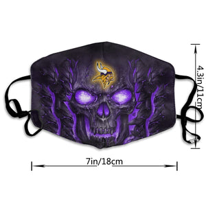 QIANOU66 Skull Lava Vikings Anti-infective Polyester Face Mask-Heroinhere