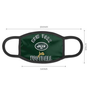 Jets Football Team Anti-infective Polyester Face Mask-Heroinhere