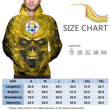 Load image into Gallery viewer, 3D SKull Steelers Hoodies For Men Pullover Sweatshirt-Heroinhere
