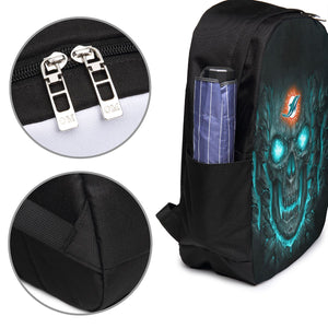 Dolphins 3D Skull Lava Travel Laptop Backpack USB Backpack 17 IN-Heroinhere