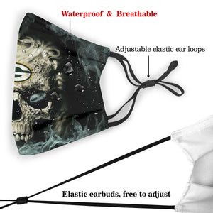 3D Skull Packers Anti-infective Polyester Face Mask With Filter-Heroinhere