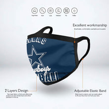Load image into Gallery viewer, Cowboys Football Team Anti-infective Polyester Face Mask-Heroinhere