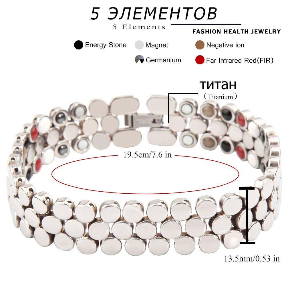 Titanium Bracelet Health Magnetic Therapy