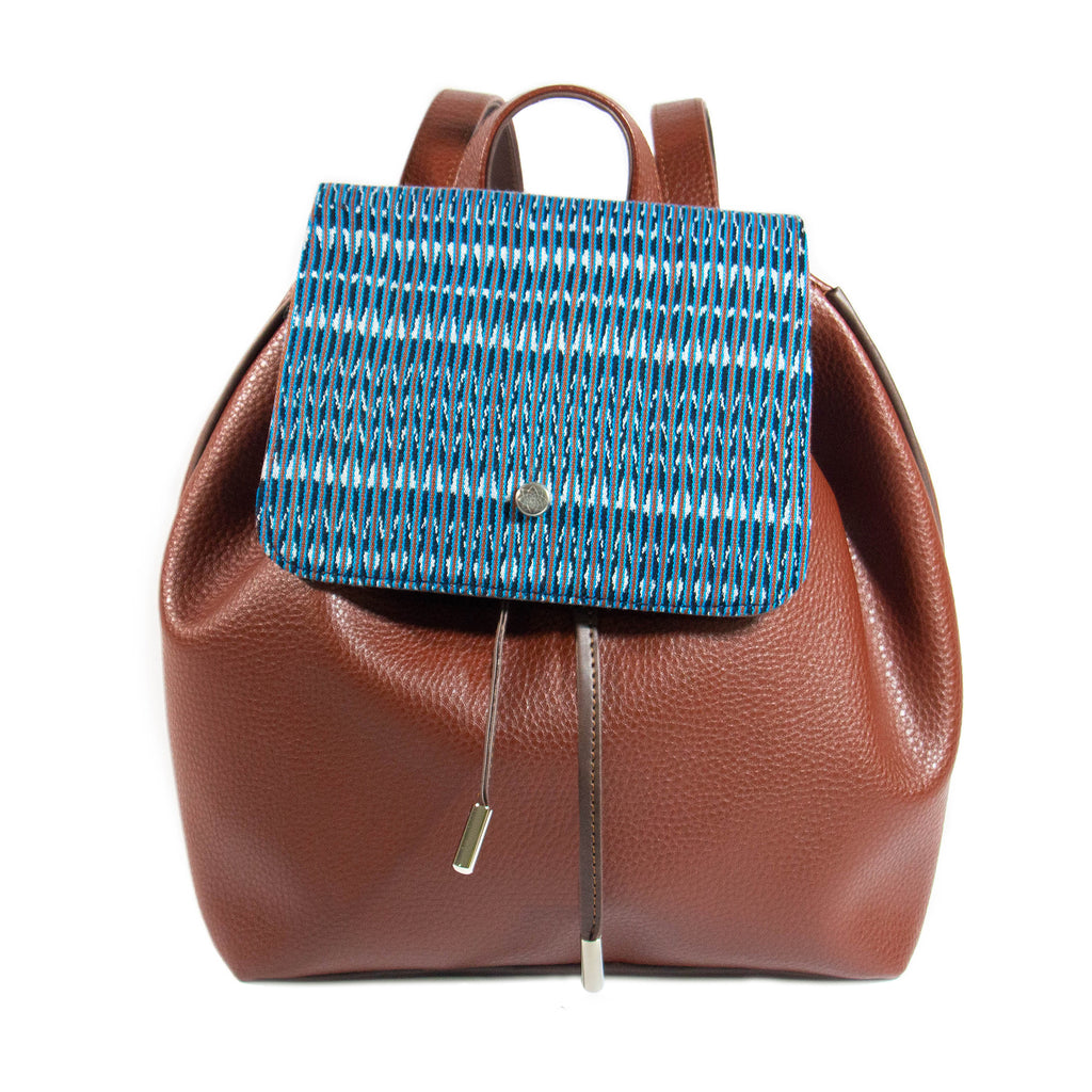 BACKPACK | Base terracota - Artesanal_Hecho a mano_Mexicano_Lujo_Rebozo