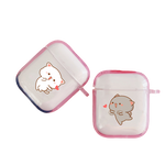 coques pour couple airpods chat