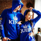 sweat shirt king queen bleu