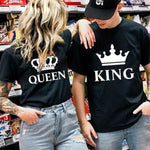 t-shirt couple king queen
