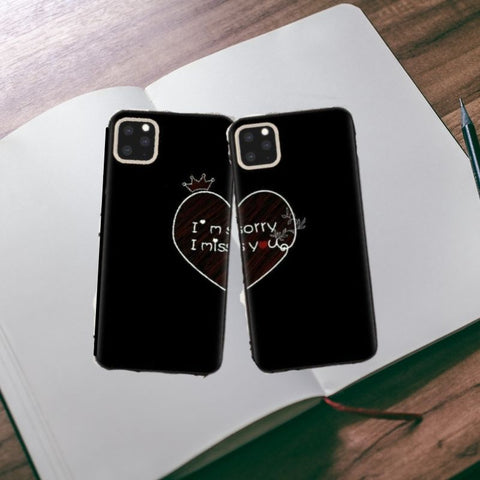 lovely forever best friend forever couple protective cover for iPhone 6 6s 11 Pro X XS MAX X XR 7 8 Plus