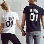 tee-shirt couple king queen