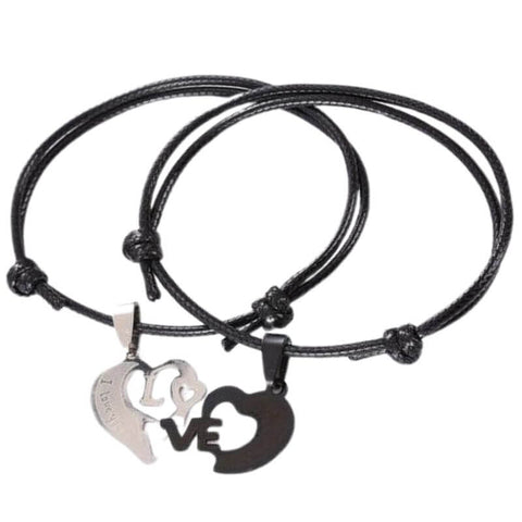 bracelet couple cordon