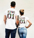 Deux t-shirts King and Queen pas cher