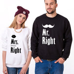 Les Pulls assortis Couple Mr. Right Mrs. Always Right