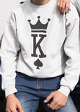 assortis Pulls Couple Poker King&Queen modele homme blanc