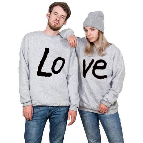 pull gris couple
