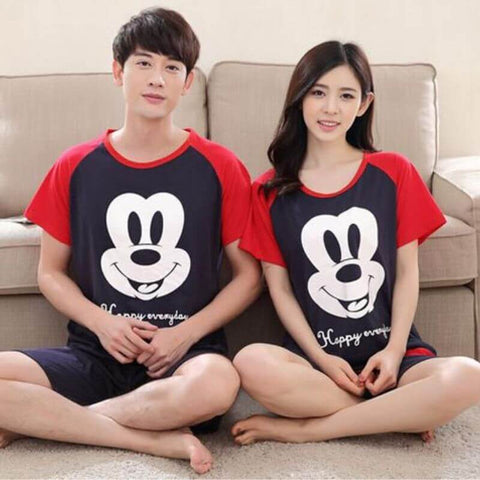 pyjama couple mickey