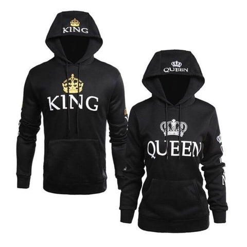 sweat à capuche king queen