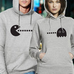 sweat geek gris pac man couple