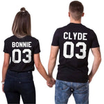 tee-shirt couple bonnie and clyde
