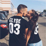 t-shirt couple bonnie and clyde