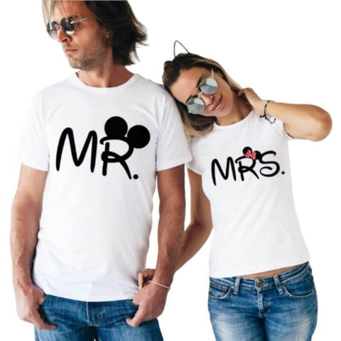 tee-shirt couple mr mrs