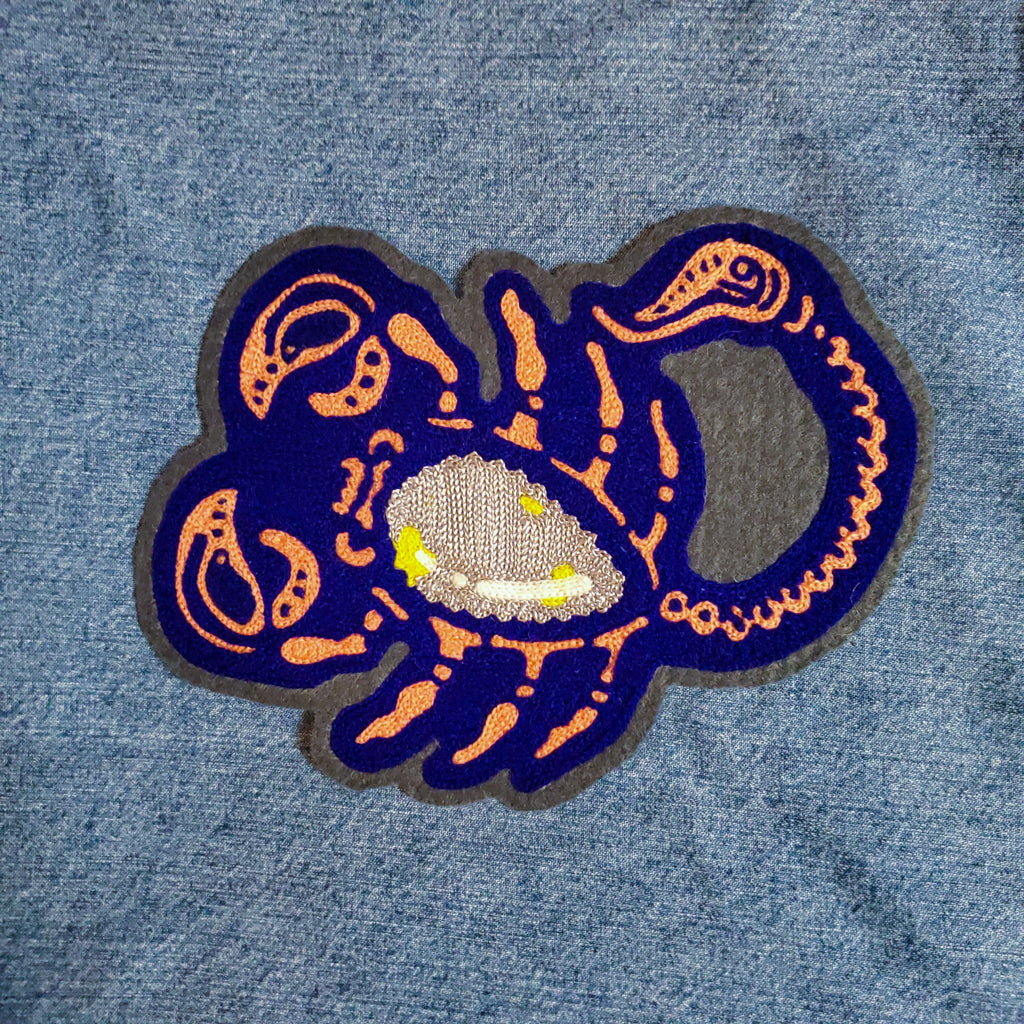 Coral Scorpion - Chainstitch Patch