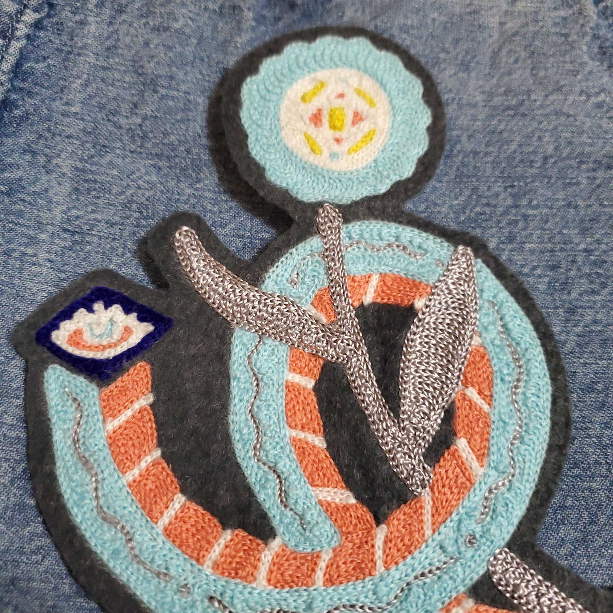 Coral Snake Eyes - Chainstitch Patch