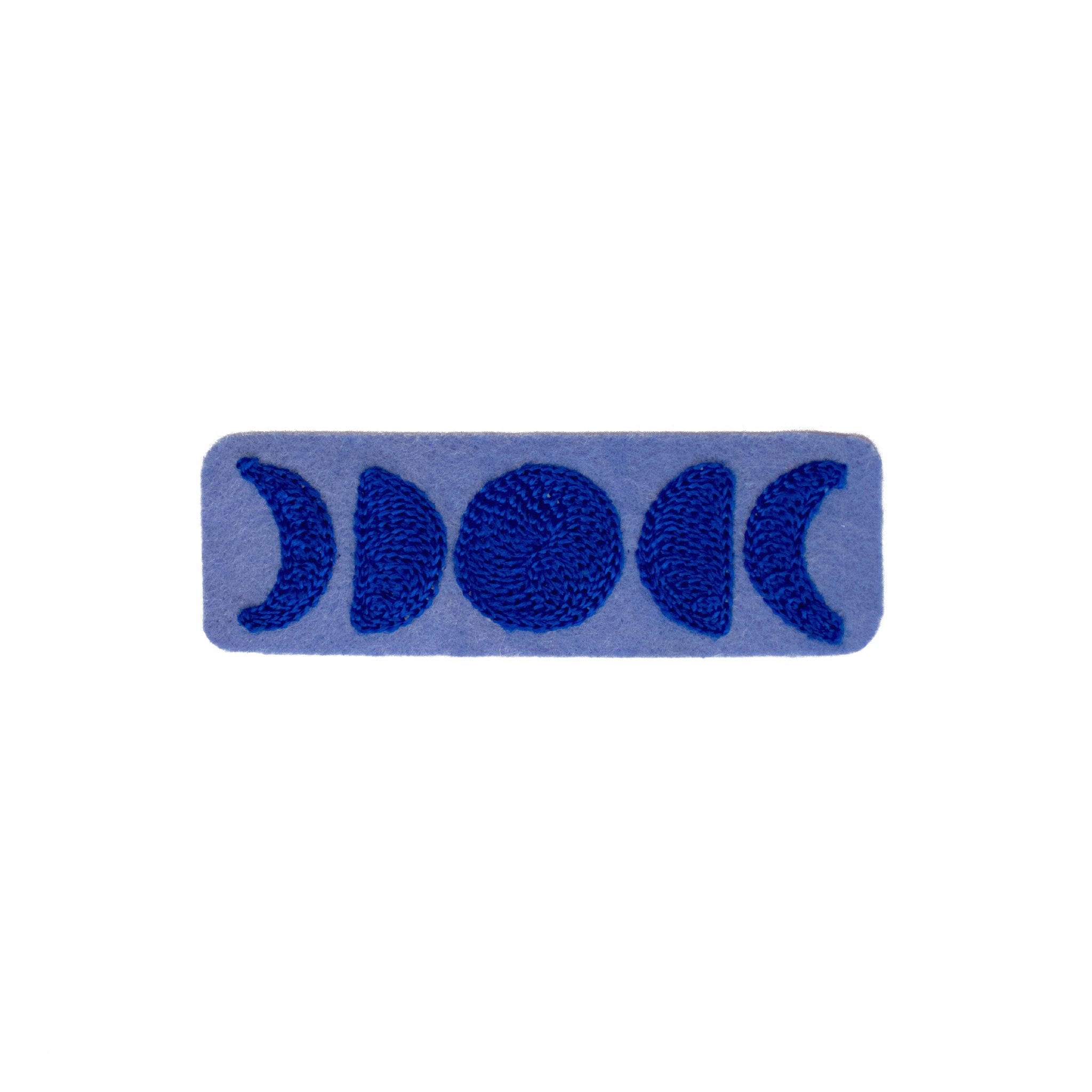Moon Phases Blue - Chainstitch Patch
