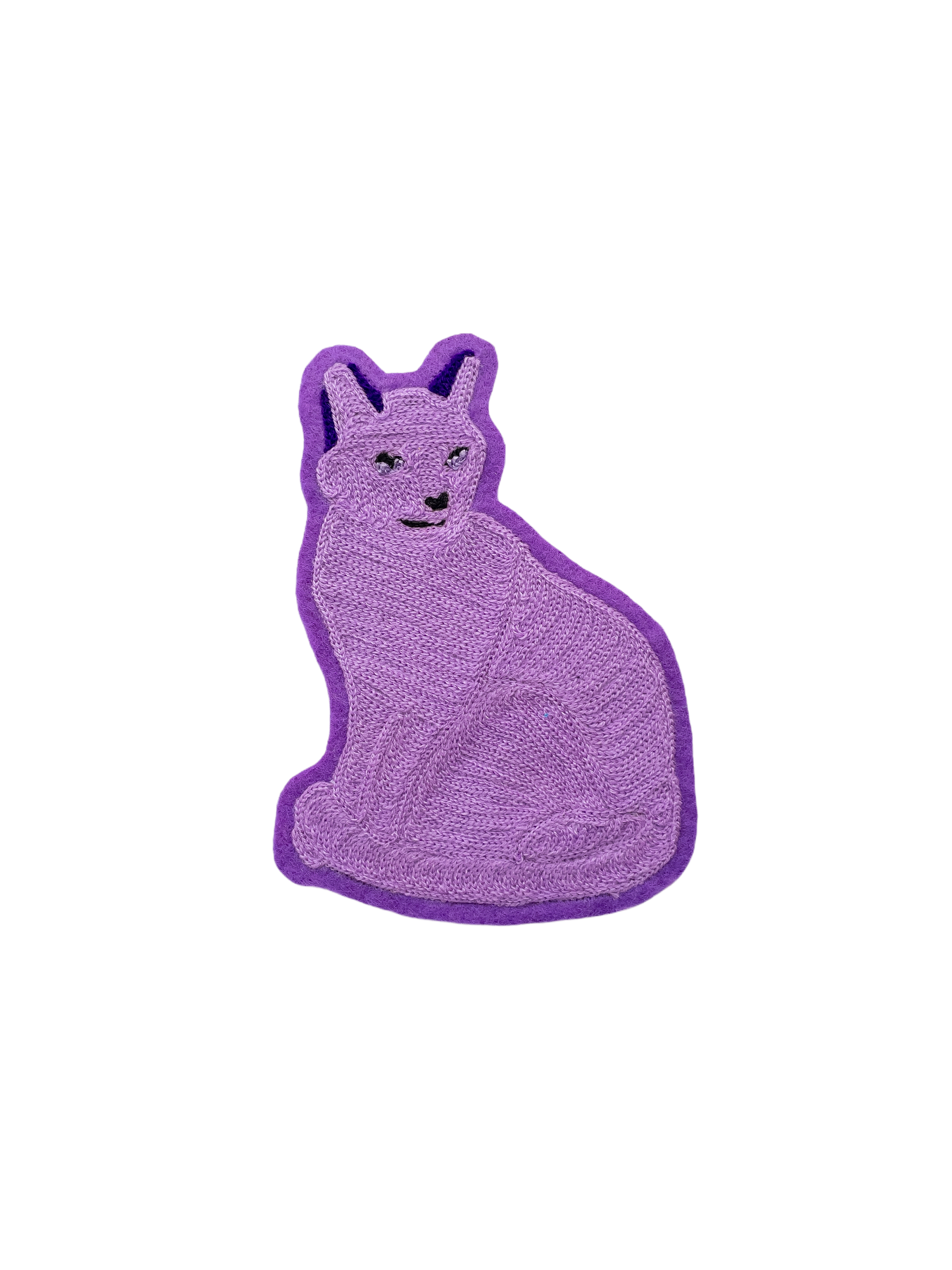 Purple Cat - Chainstitch Patch