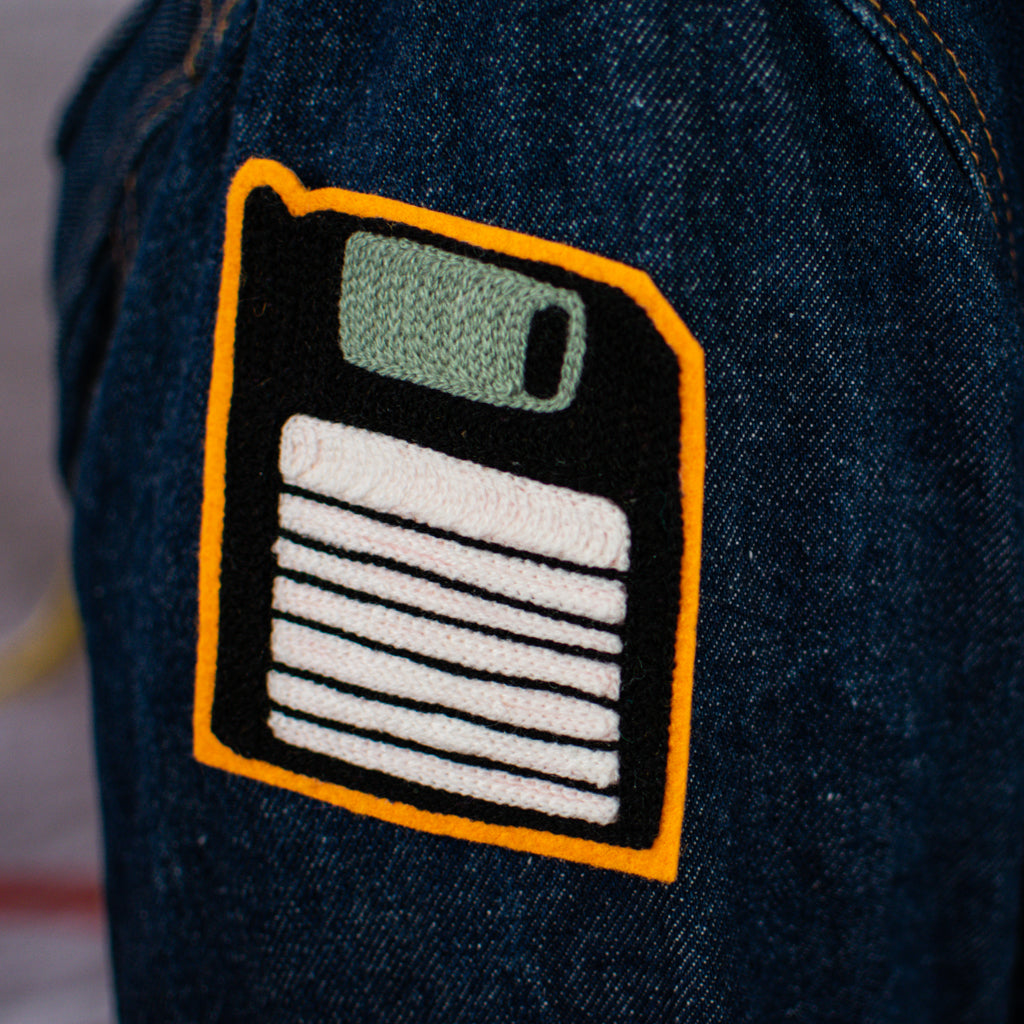 Black Floppy Disc - Chainstitch Patch