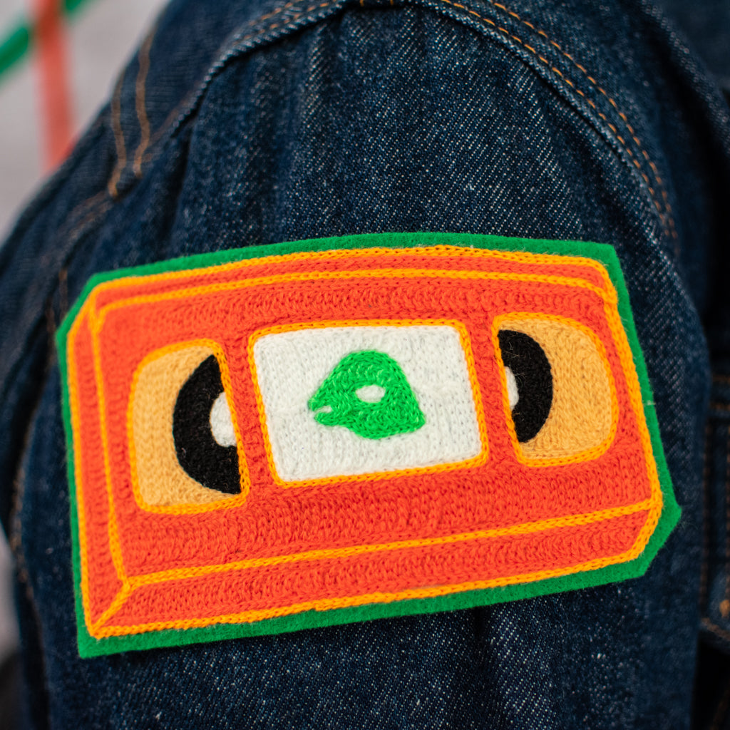 Orange VHS - Chainstitch Patch