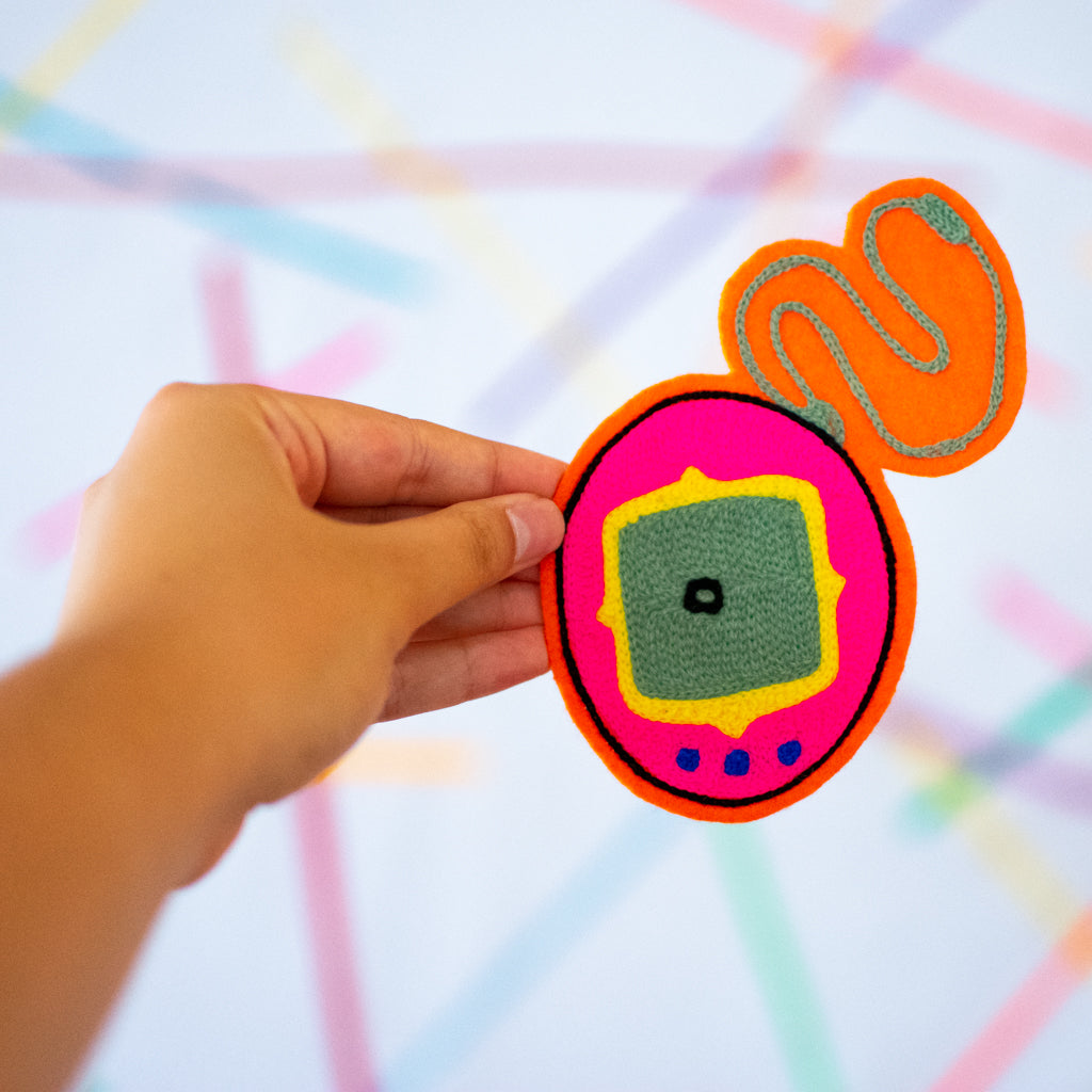 Tamagochi - Chainstitch Patch