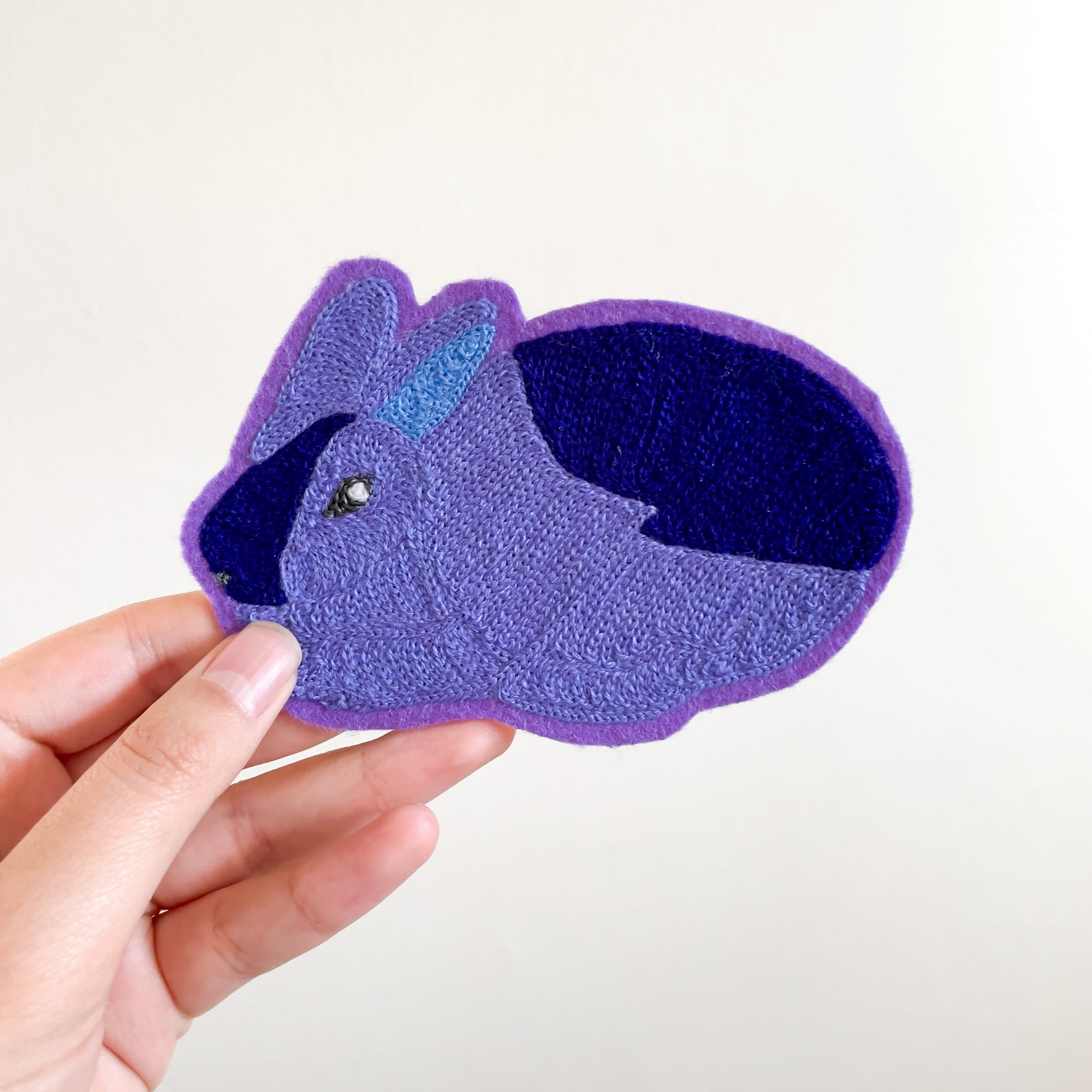 Periwinkle Bunny - Chainstitch Patch