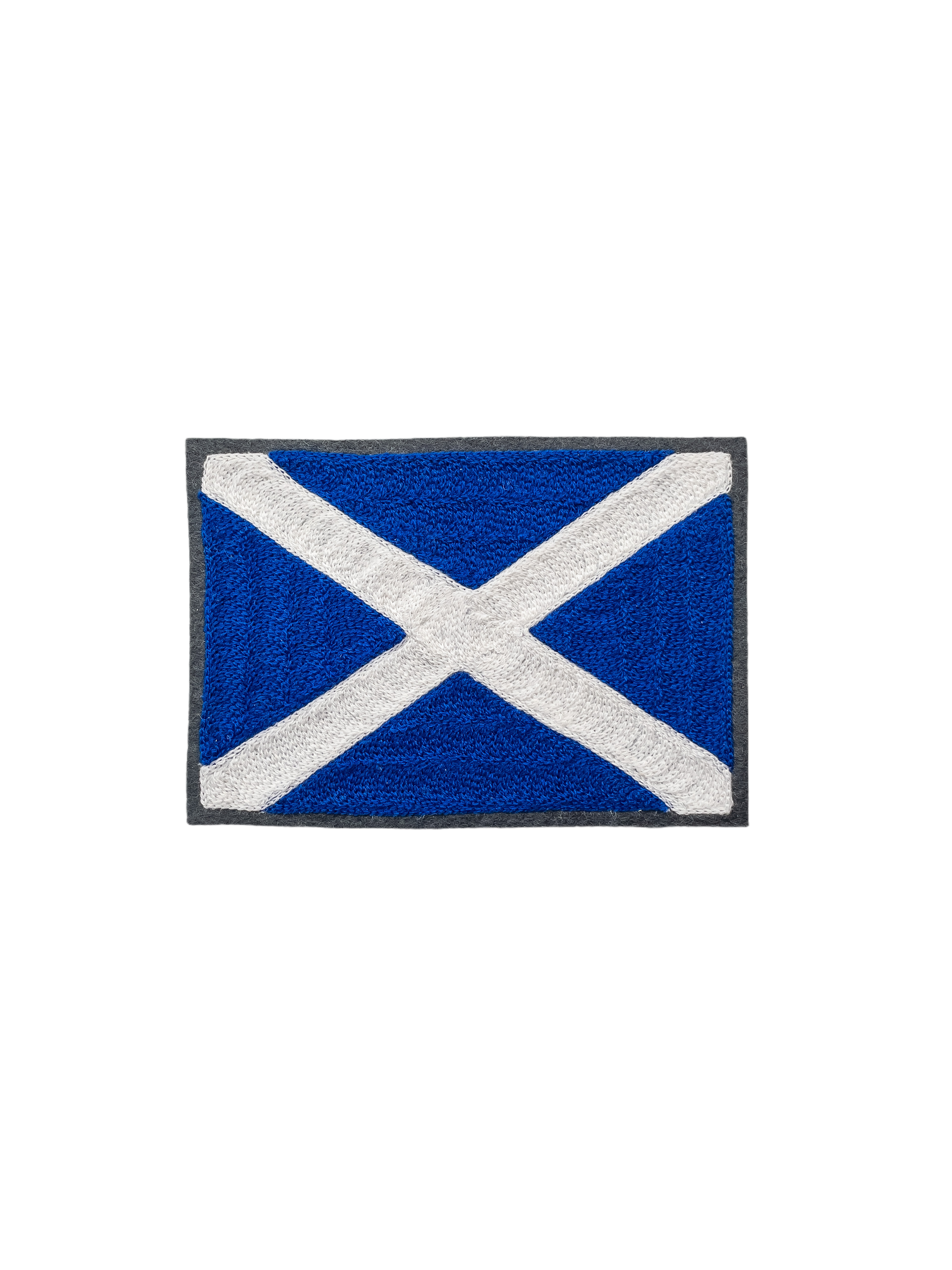 Scottish Flag - Chainstitch Patch