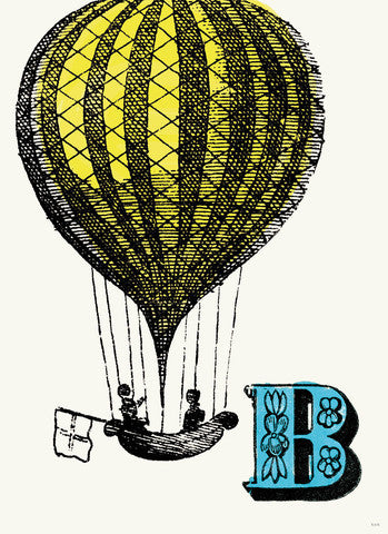 Chapbook Alphabet Prints- B Balloon