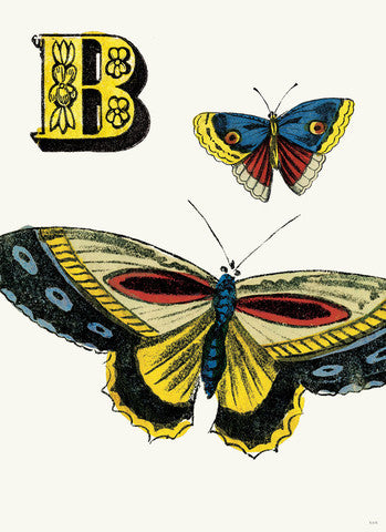 Chapbook Alphabet Prints- B Butterfly