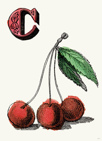 Chapbok Alphabet Prints- C Cherries