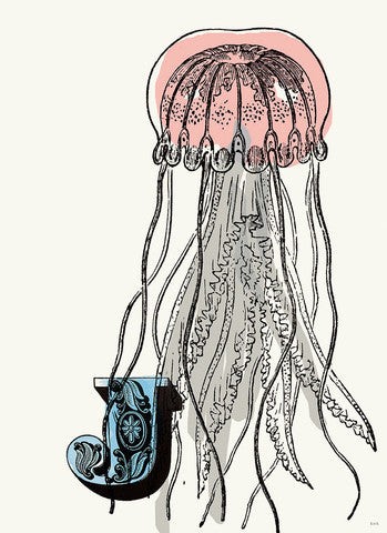 Chapman Alphabet Prints- J Jellyfish