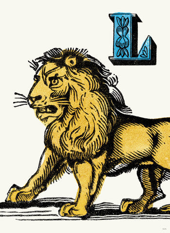 Chapbook Alphabet- L Lion