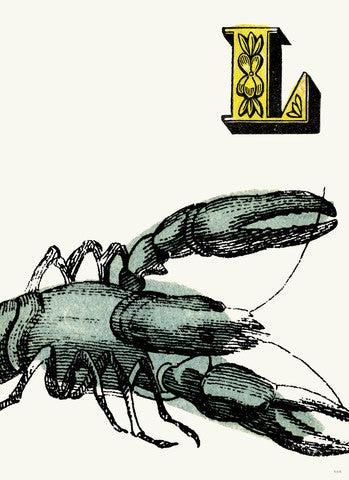 Chapbook Alphabet- L Lobster