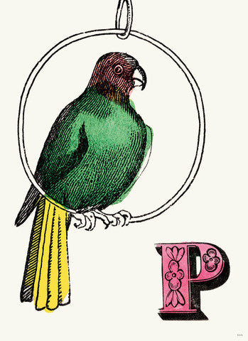 Chapbook Alphabet Prints- P Parrot