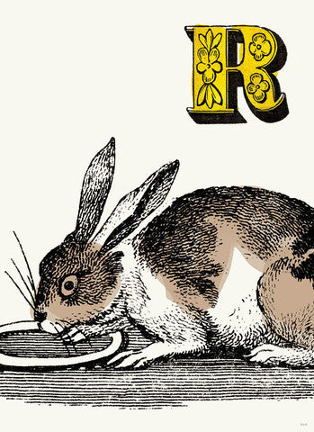 Chapbook Alphabet Prints- R Rabbit