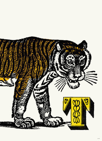 Chapbook Alphabet Prints- T Tiger