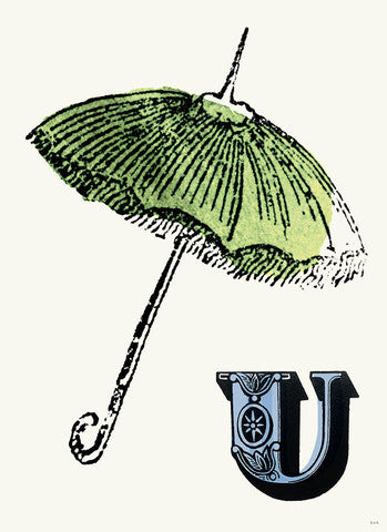 Chapbook Alphabet Prints- U Umbrella