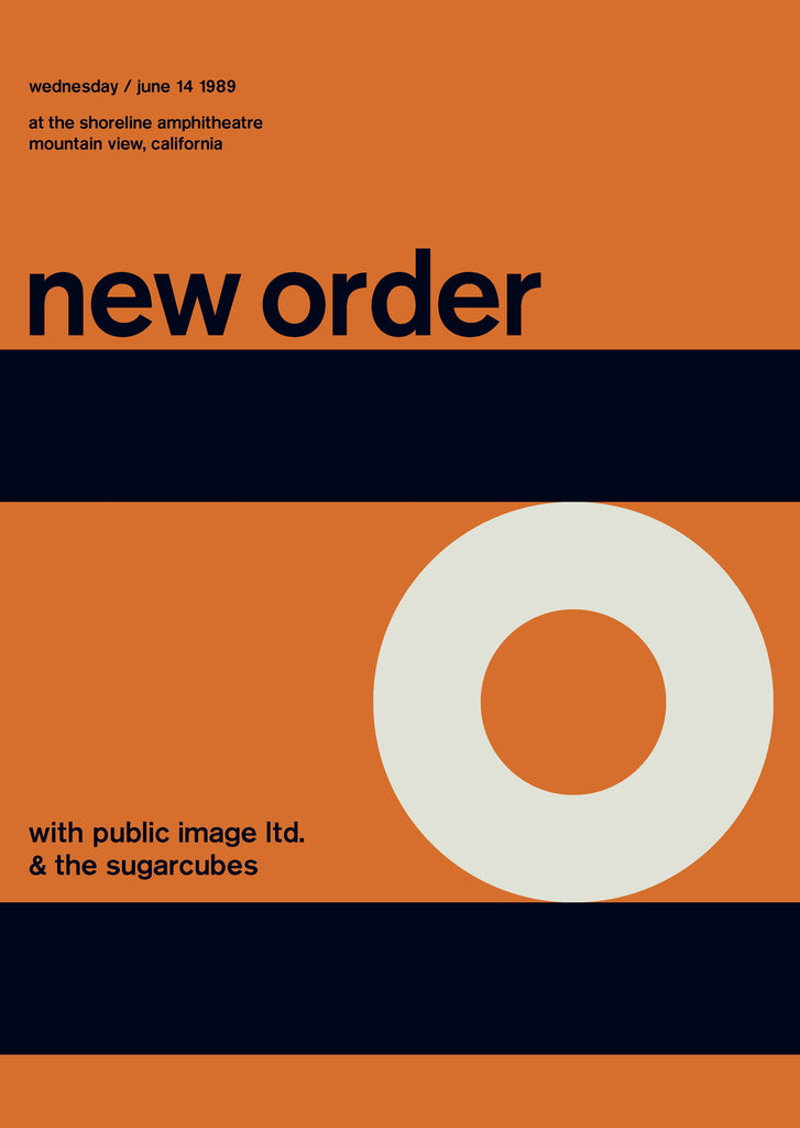 New Order at The Shoreline Ampitheatre, 1989