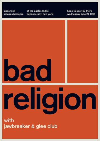 Bad Religion at The Eagle's Lodge, 1990